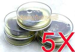 5x Cans Of Wish Pearl Oyster And Natural Rice Freshwater Pearl Inside For Jewelry