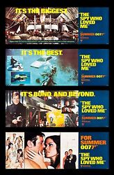 The Spy Who Loved Me Cinemasterpieces Movie Poster Banner Set Of 4 James Bond