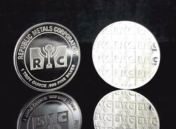 1 Troy Ounce - 0.999 Pure Fine Silver Round, From Republic Metals Corp Rmc