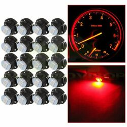 20X 3SMD Red T4.7 T5 Neo Wedge 3014 LED Bulbs A/C Climate Control Light Lamp 12V