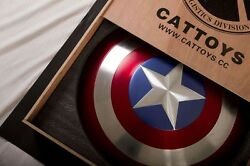 [metal Made] No Wooden Box Cattoys 1/1 Captain America Perfect Metal Shield
