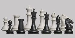 USCF Sales The Hastings Plastic Chess Set - Pieces Only - 3.875