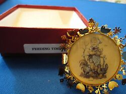 14 Of The Hummel Gold Christmas Ornament Collection, 2 Sided, Beautiful