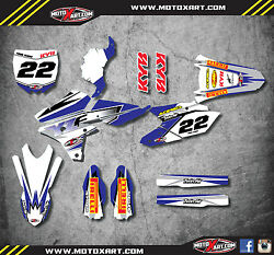 Yamaha Yzf 250 - 2014 / 2016 Full Graphic Kit Shockwave Style Decals Stickers