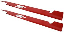 44 Rotary 14491 Notched Lift Lawn Mower Blade Set 2 Exmark Quest 116-1037-s