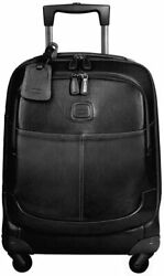 Bric's Life Pelle Trolley 21 Inch Carry-on Spinner Black Leather Bpl05250