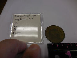 50 Cent Bowdon Lime Co. R-10 Token Saginawala.--only One Known