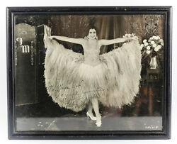 Original Fay Marbe Photograph Signed And Personalized In Wood Frame C1920