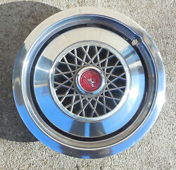 13 1974 75 76 77 78 Ford Mustang Wire Design Hubcap Wheel Cover