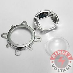 4 Set 44mm Lens + Reflector Collimator + Fixed Bracket For 20w-100w Led Lamp