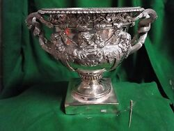 SILVER PLATED WARWICK VASE ANTIQUE LARGE SIZE GREAT QUALITY VICTORIAN RARE 1860