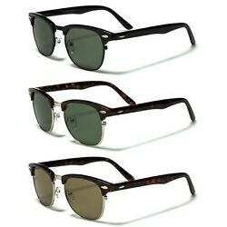 Small Retro Rewind Club Glasses Men#x27;s Vintage 80s Sunglasses Black Brown $7.95