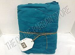 Pottery Barn Teen College Dorm Ruched Duvet Cover Full Queen FQ Sea Blue