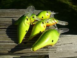 Six 6 Custom Painted Rapala And Luckycraft Style Squarebill Crankbait Lures X 6