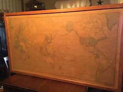 Rare 1944-46 War And Navy Map First Edition