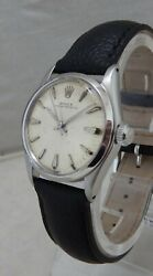 Rolex Oyster Perpetual Model 6549 Mid Sized Mens Watch Orig Dial Minty C. 1966