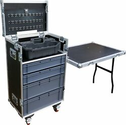 Mechanics Tool And Drawer Swan Flight Case With Stanley Tote Tray And Table Hex