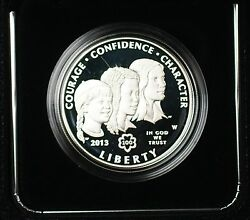 2013-w Girl Scouts Commemorative Proof Silver 1 Coin Original Mint Packaging