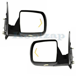 For 07-13 Tundra Mirror Power Folding Heat Memory W/puddle Signal Lamp Set Pair