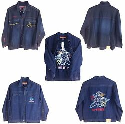 Avirex Menand039s Denim Jean Jackets 100 Cotton Limited Style And Sizes