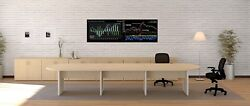 New Amber 14and039 Racetrack Office Conference/boardroom/meeting Table W/credenza