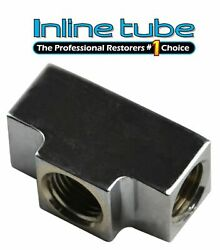 3/16 Inverted Flare Brass Tee 3/8-24 And 1/8 Npt Brake Line Light Switch Chrome