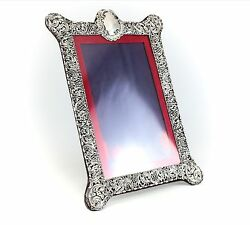 John And William Deakin Birmingham, 1909 Hand Chased Sterling Silver Picture Frame