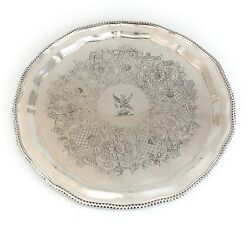 Matthew Boulton Sheffield Silver Rolled On Copper Serving Tray C1800 Hand Made