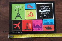 OSPREY Backpacks 9 STICKERS Decals TRAVEL GLOBE NEW $6.97