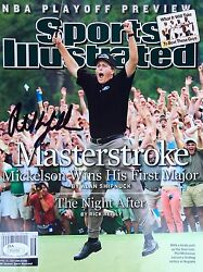 Phil Mickelson Sports Illustrated April 19th, 2004 Signed Nl Magazine Jsa