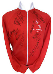 Signed Retro Sunderland 1973 Tracksuit Top Shirt By. Kerr Monty Hughes And Young