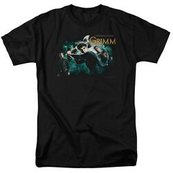 Grimm Tv Show Storytime Is Over Swinging Axe Licensed Tee Shirt Adult S-3xl