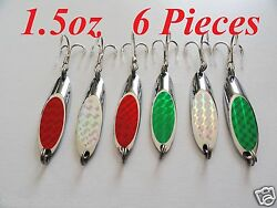 1.5oz Casting Kast Spoons 6 Pieces Saltwater Fishing Lures Random Colors