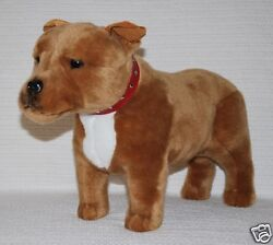 *NEW* BROWN STAFFY STAFFORDSHIRE BULL TERRIER PUPPY DOG STANDING TOY 40CM