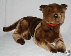 *NEW* LARGE BRINDLE STAFFY STAFFORDSHIRE BULL TERRIER DOG SOFT TOY 50cm20inc
