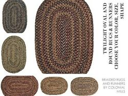 Twilight Braided Area Rugs And Runners By Colonial Mills. All Sizes And Colors