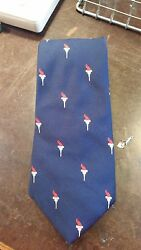VINTAGE OLYMPIC TORCH NAVY RED WIDE NOVELTY DESIGNER MENS NECKTIE FREE SHIPPING $10.99