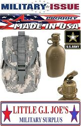 New Issue Acu Molle Ii Canteen Pouch And Canteen W/nbc Cap, General Purpose Pouch