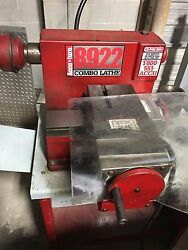Accu Turn 8922 Drum And Rotor Brake Lathe With Stand And W/ Variable Disc Drives.