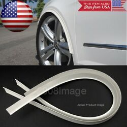 2 Piece 47 White Arch Wide Body Fender Flares Extension Lip Guards For Bmw Audi