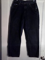 Lee Riveted Women Relaxed Fit Straight Leg Jeans Stretch 6 P, Ships Free 26 X 27