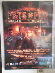 Pride Fc 29 Fists Of Fire Signed Event Poster - 28x20 - Ufc Mma Autograph