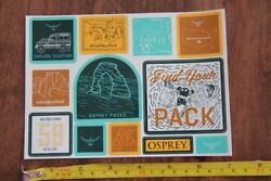 OSPREY Backpacks 12 STICKERS Decals NATIONAL PARKS New $3.97