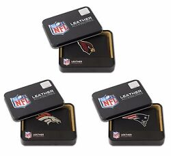 Nfl Team Logo Embroidered Leather Trifold Wallet  Pick Your Team