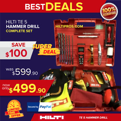Hilti Te 5 Hammer Drill, L@@k, Made In Germany, Free Measurer Laser, Fast Ship