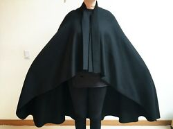 Madame Grès Paris Extremely Rare Wool Cape With Detachable Shawl Collar