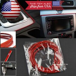 1x 108 Red Molding Stripe Trim Line For Nissan Infiniti Console Dashboard Grill