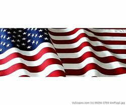 Vuscapes Truck Rear Window Graphic - 4 Sizes Avial. - Usa Flag 2