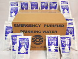 1 Case Emergency Drinking Water 96 Pouches 4.227 Fl Oz. 48 Day Survival