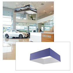 16ft Ceiling Banner Display Trade Show Square Hanging Sign (One Sided Graphic)